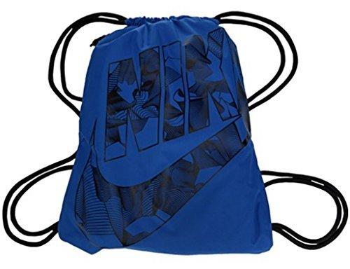 Nike Heritage Drawstring Gymsack Backpack 400 Denier Sport Bookbag Game Royal BlueBlack Tribal Print Signature Graphics Swoosh