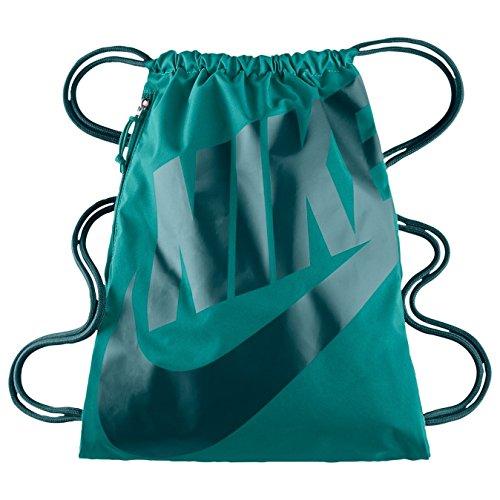 Nike Heritage Drawstring Gymsack Backpack 400 Denier Sport BookbagRad Emerald Green with Signature Green Swoosh