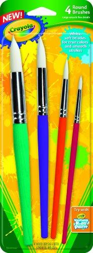 Crayola Big Paint Brushes 4 Count Round