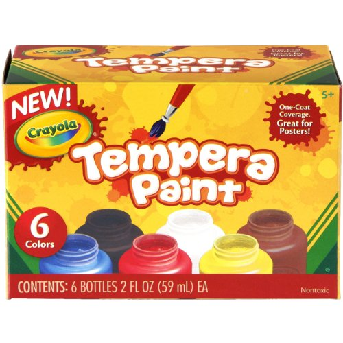 Crayola Tempera Paint Set 2-Ounce 6 Count