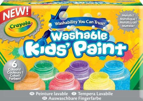 Crayola Washable Metallic Paint Set 2-Ounce 6 Count