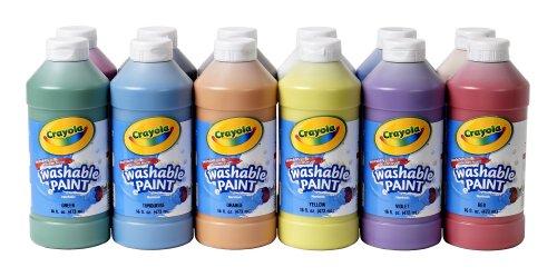 Crayola Washable Paint Assorted 16 oz 12 per Set 549718
