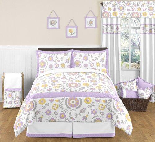 Suzanna Childrens and Kids 3 Piece Full  Queen Girls Bedding Set