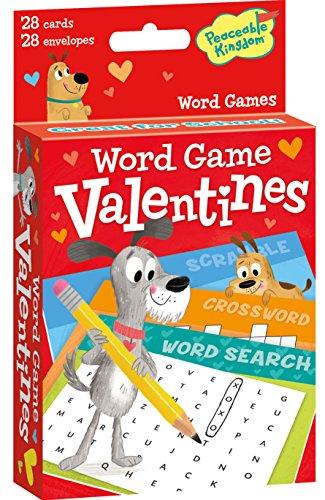 Peaceable Kingdom Word Game Valentine Cards