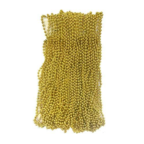Gold Mardi Gras Beads 33 inch 7mm 6 Dozen 72 Necklaces