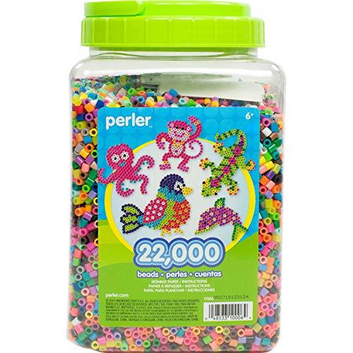 Perler Beads Bulk Assorted Multicolor Fuse Beads for Kids Crafts 22000 pcs
