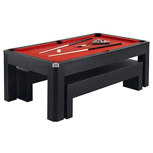 Hathaway Park Avenue Billiard Pool Table Combo Set 7-Feet