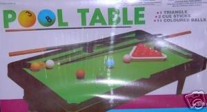 One Complete Mini Tabletop Pool Table Set