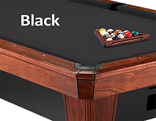 8 Oversized Simonis 860 Black Billiard Pool Table Cloth Felt