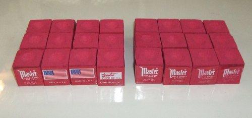 Masters Red Billiard Chalk - 2 dozen