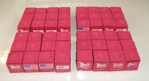 Masters Red Billiard Chalk - 4 Dozen