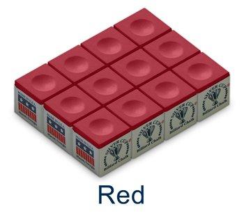 Red Silver Cup Billiard Chalk