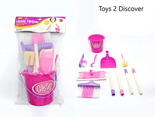 Complete Kids Play Cleaning Housekeeping Toy Play Set - Girl Toys  8 Piece