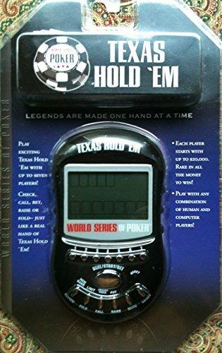 Wsop Texas Holdem Electronic Handheld Game-black