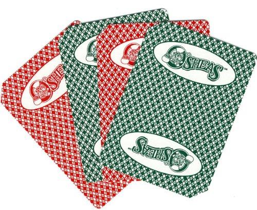 2 Decks of OSHEAS CASINO Las Vegas Nevada Used Playing Cards