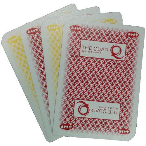 2 Decks of The QUAD RESORT CASINO Las Vegas Nevada Used Playing Cards