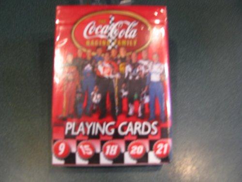 NASCAR Coca Cola Racing Family Playing Cards Elliott 9 Waltrip 15 Labonte 18 Stewart 20 Rudd 21 Harvick 29 Petty 45 Jarrett 88 Busch 97 Burton 99