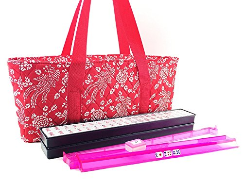 166 Tiles American Mahjong Set Red Phoenix Soft Bag 4 Color PushersRacks Easy Carry Western Mahjongg