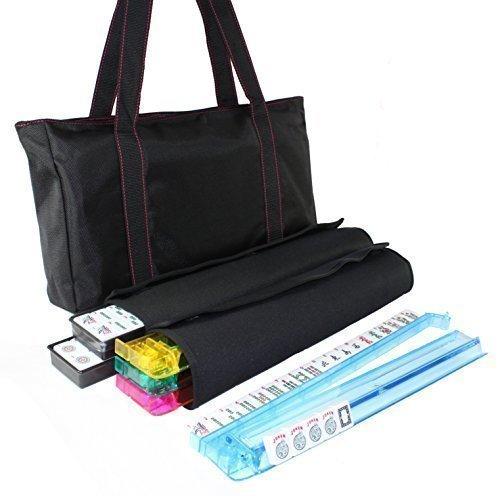 American Mahjong Set Waterproof Black Nylon Red Stitches Bag 4 Color PushersRacks Western Mahjongg