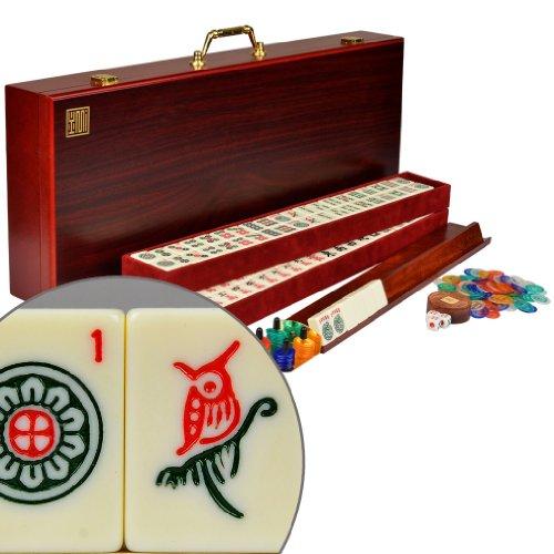 YMI American Mahjong Mah Jongg Mahjongg 166 Tiles Set w Racks The Classic