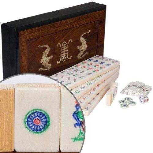 Chinese Mahjong Mah Jongg Mah-Jongg Mahjongg Full Set in Rosewood Box