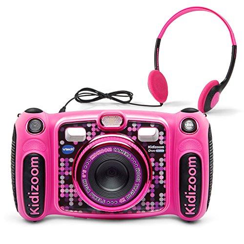 VTech Kidizoom Duo 50 Deluxe Digital Selfie Camera with MP3 Player Headphones Pink