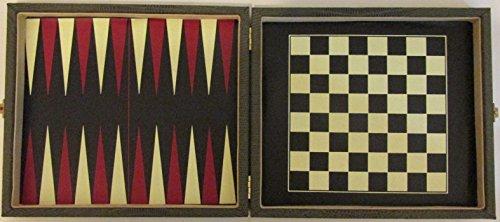 Original Medium Size Vintage Python Snake Skin Leather 6 in 1 Travel Game Set
