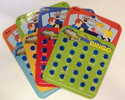 Travel Bingo Cards Car Road Trip Game Auto Bingo - Set of 4 Cards by Toysmith