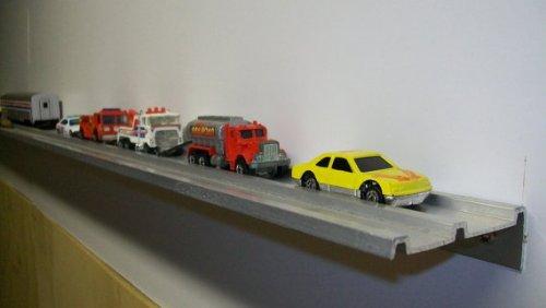 Display Shelf for Matchbox Cars Diecast Collectiblesor Hotwheels - Set of 2 Shelves