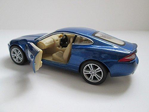 Qiyun Jaguar XK Coupe Hard Top 1 38 Scale Diecast Collectible Model Car Blue Kinsmart