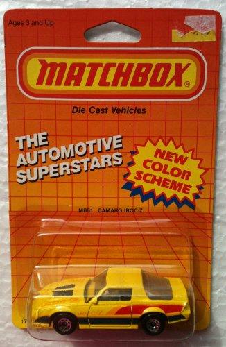 1987 Matchbox MB51 CAMARO IROC-Z Automotive Superstars Series 164 Diecast Car