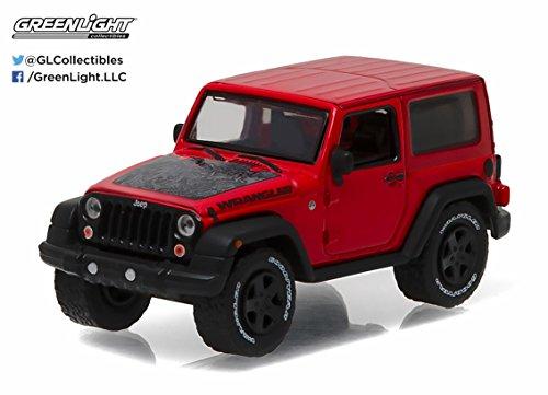2016 Jeep Wrangler Black Bear Firecracker Red Country Roads Series 15 164 Model Car by Greenlight