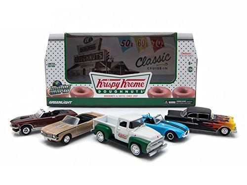 Motor World Diorama Krispy Kreme Donuts 5 Car Set 164 Model Cars by Greenlight
