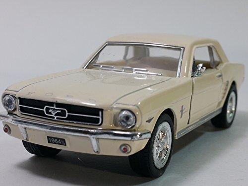 Kinsmart Eggshell White 1964 12 Ford Mustang Hardtop 134 Scale Diecast Sports Car