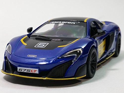 Kinsmart Navy Blue Mclaren 675LT Hard Top 136 Scale Diecast Sports Car Limted