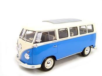 1962 VOLKSWAGEN MICROBUS VW BLUE 118 DIECAST MODEL