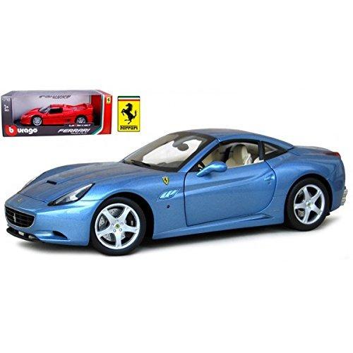 FERRARI CALIFORNIA T CLOSED TOP BLUE 118 DIECAST MODEL CAR BY BBURAGO 16003 by Bburago