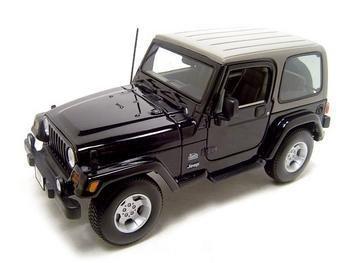 Jeep Wrangler Sahara Black 118 Diecast Model by TDS