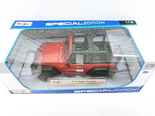 Maisto Orange 2014 Jeep Wrangler - 118 Diecast Model Car Black Special Edition