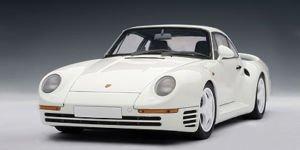 Porsche 959 White AutoArt 118 Diecast Model Car