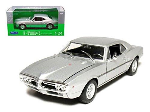 1967 Pontiac Firebird Silver 124 Diecast Model Car