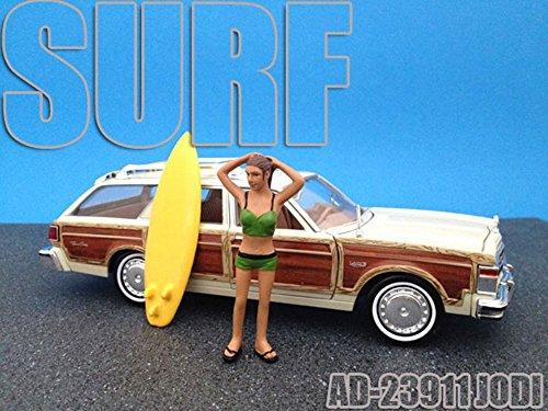 Surfer Jodi Figurine For 124 Diecast Model Cars by American Diorama 23911
