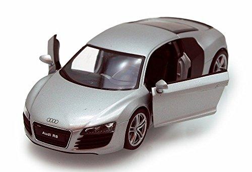 Audi R8 Silver - Welly 22493 - 124 scale Diecast Model Toy Car