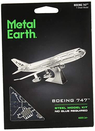 fascinations Metal Earth Boeing 747 Airplane 3D Metal Model Kit