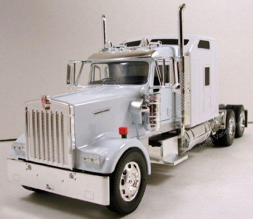132 scale Kenworth W900 diecast model trailer truck Cab White N201