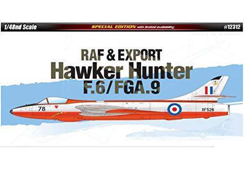 Academy 12312 RAF Export Hawker Hunter F6FGA9 148 Scale Plastic Model Kit