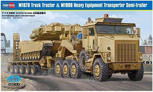 Hobby Boss 85502 M1070 Truck Tractor M1000 Heavy Equipment Transporter Semi-Trailer 135 Scale Plastic Model Kit