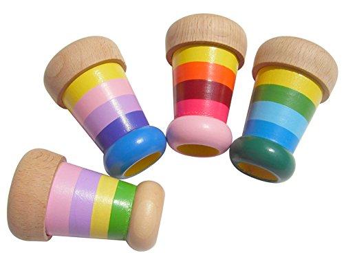 Generic Wooden Toys Magical Mini Kaleidoscope Bee Eye Effect Polygon Prism Classic Children Toy2pcs
