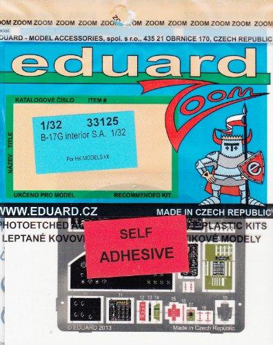 EDU33125 132 Eduard Color Zoom PE - B-17G Flying Fortress Interior for the HK Model model kit MODEL KIT ACCESSORY