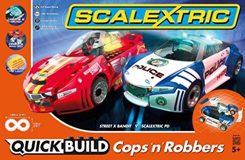 Scalextric C1323T Quickbuild Cops N Robbers 132 Slot Car Race Set